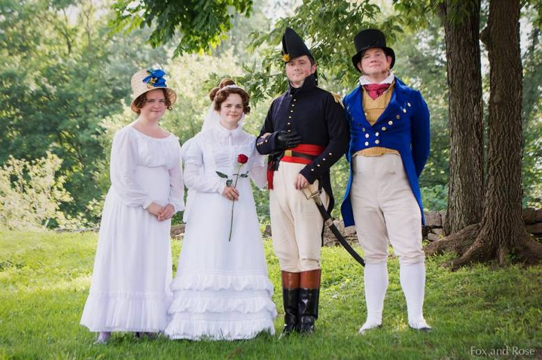 Mary O'Hara (played by Melissa Alexander), Ann Croghan Jesup (me), General Thomas Jesup (Brandon), and William Croghan Jr (Sam Loomis). Image by Fox and Rose Photography