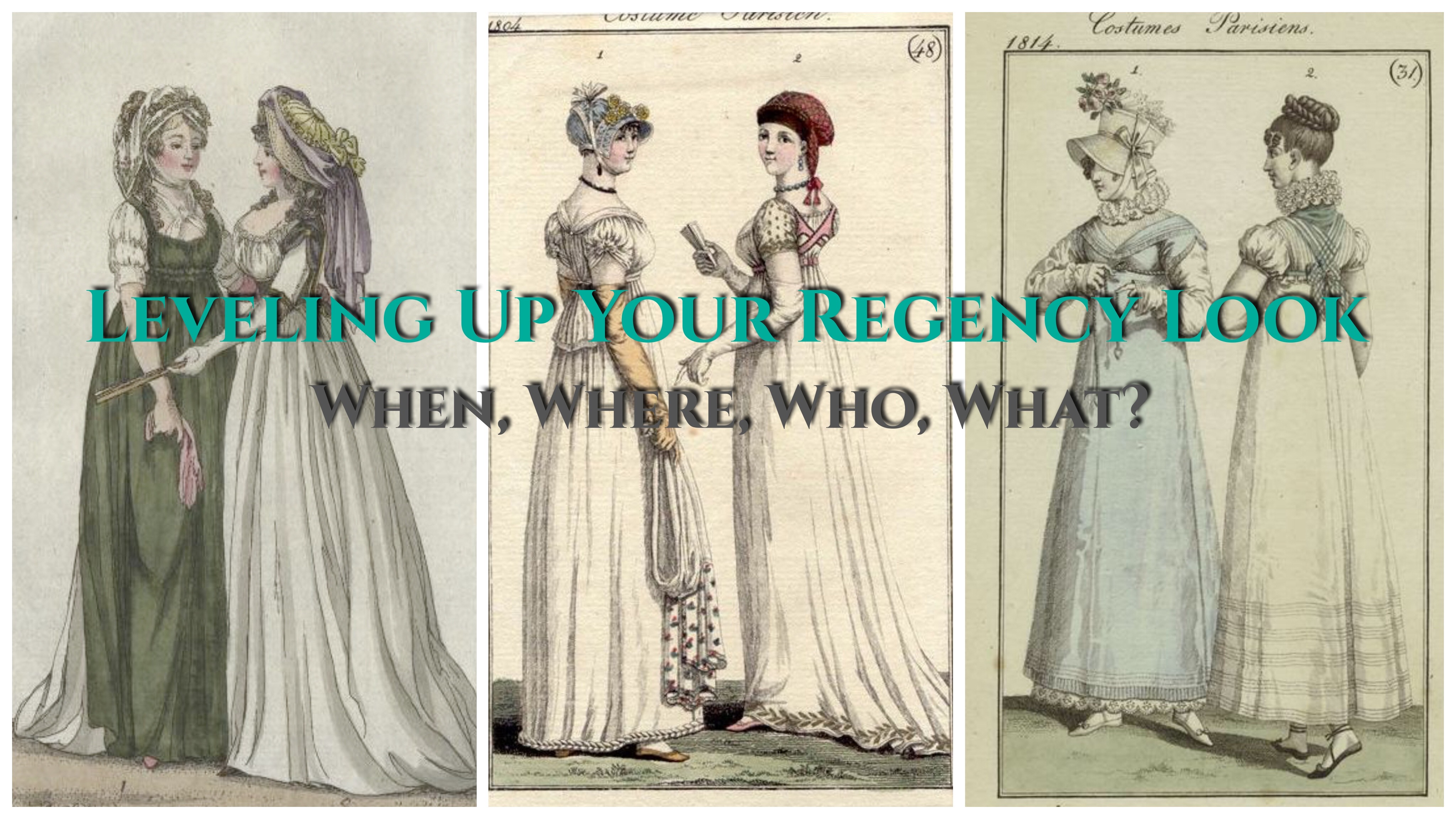 Leveling Up Your Regency Look Part I Planning Your Outfit Fabric Fiction
